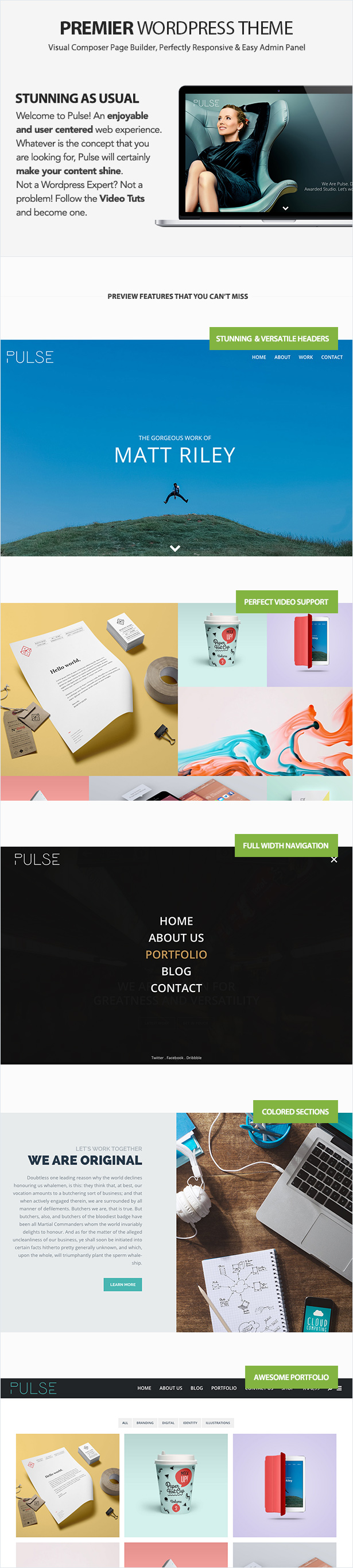 Pulse - Premier WordPress Theme