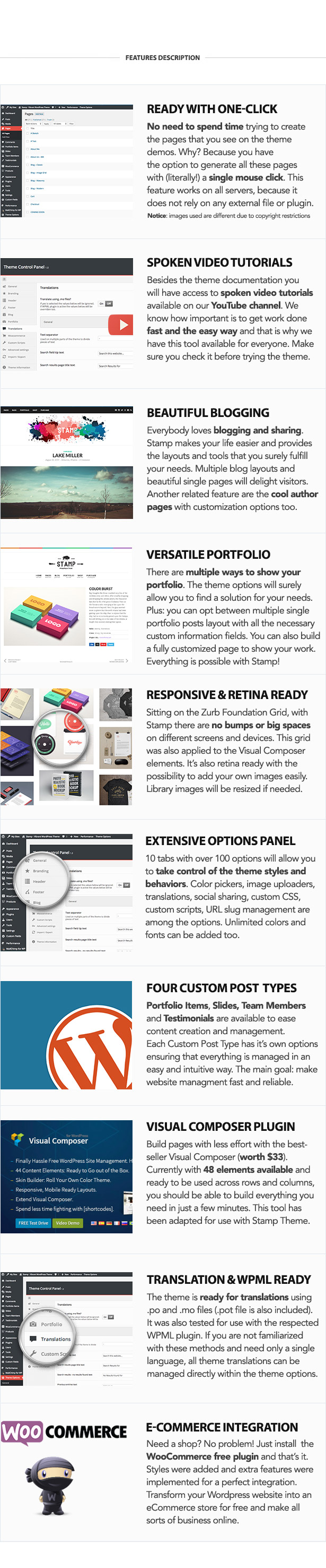 Stamp - Vibrant WordPress Theme