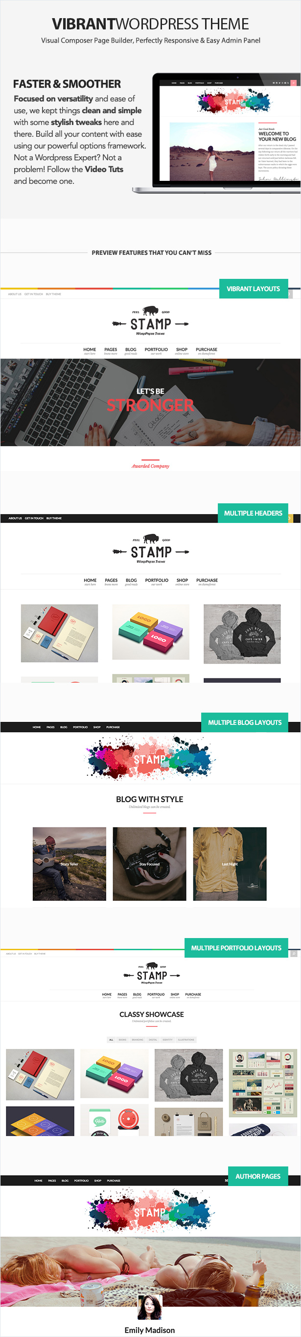 Stamp - Vibrant WordPress Theme - 2